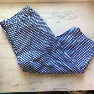 Cato Blue Gingham Capri Pants 20W